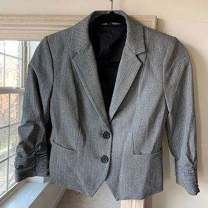 EXPRESS gray blazer with ruched sleeves (size 0) ✨